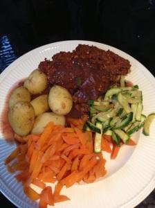 Meatless Meatloaf DinnerJPG
