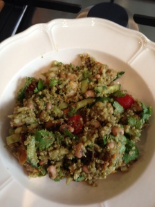 A quick & easy mexican tasting quinoa salad